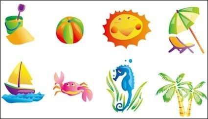 Sommer betreff vektor icon. Cliparts strand kostenlos