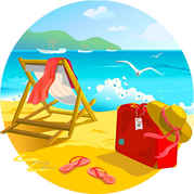 Cliparts strand kostenlos. Beach clip art vector