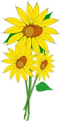 Cliparts sun flowers clip freeuse Sunflowers clip art clip arts, free clipart - ClipartLogo.com clip freeuse