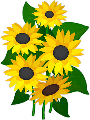 Cliparts sun flowers vector black and white download Free Sunflowers - Animated Gifs - Clipart vector black and white download