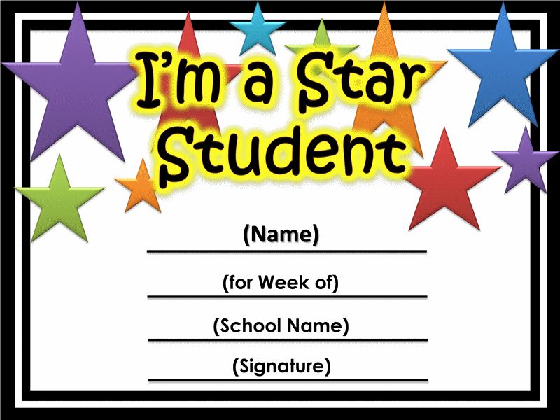 Cliparts super star frame template printable graphic royalty free library star of the week certificate printable | Printable Certificates Star ... graphic royalty free library