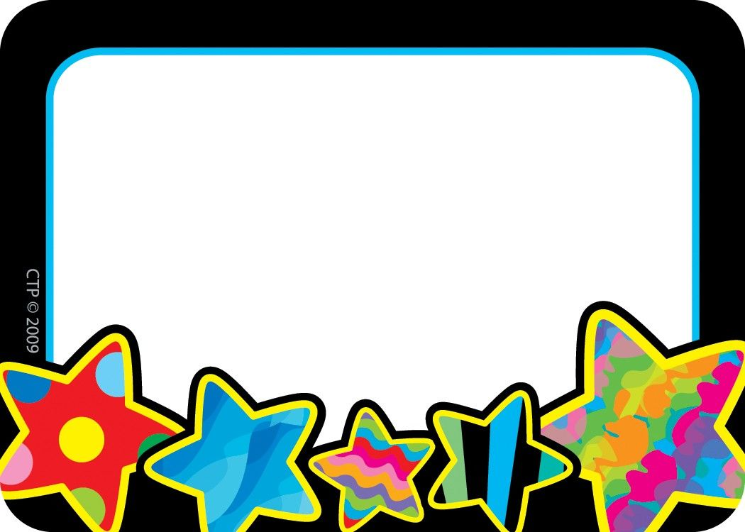 Cliparts super star frame template printable png library Poppin\' Patterns Stars Name Tags | Poppin\' Patterns Classroom Theme ... png library