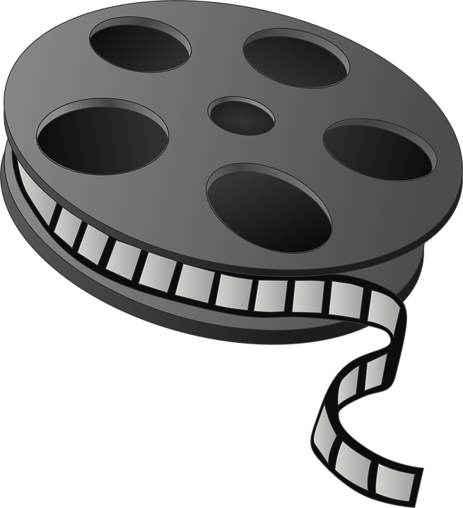 Kostenlose vektorgrafik filmrolle kino. Cliparts videos kostenlos