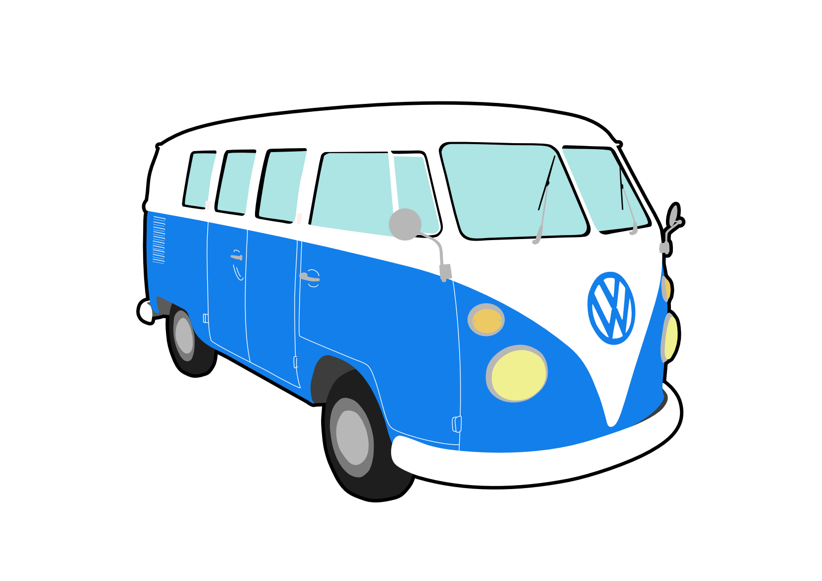 Vw camper cartoon clipart jpg Free Volkswagen Van Cliparts, Download Free Clip Art, Free Clip Art ... jpg
