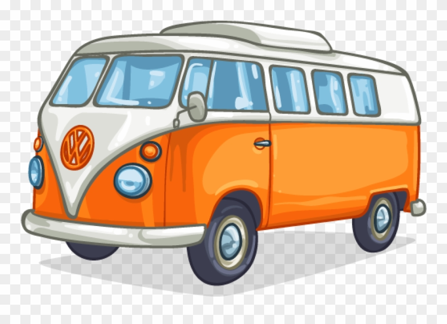 Vw camper clipart picture royalty free stock Vw Bus Art - Camper Van Cartoon Clipart (#3320314) - PinClipart picture royalty free stock