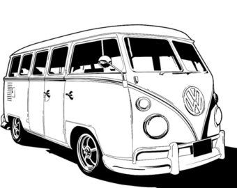 Vw bus clipart black and white jpg freeuse stock Free VW Van Cliparts, Download Free Clip Art, Free Clip Art on ... jpg freeuse stock