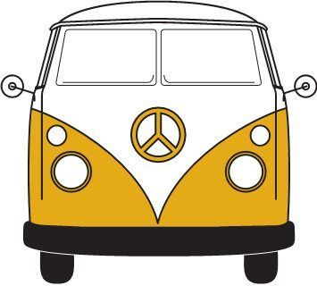 Vw bus hippie clipart picture free stock Baby VW Volkswagen Bus and Beetle Nursery Mobile - best gift ever ... picture free stock
