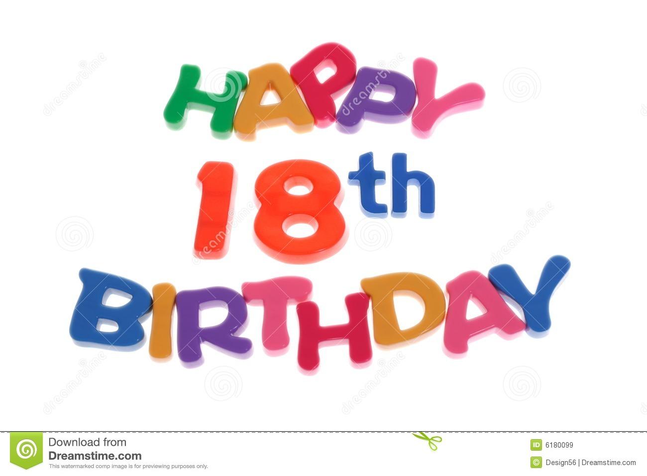 Cliparts zum 18 geburtstag picture free download Happy Birthday Icon - Happy 18th Stock Image - Image: 15075711 picture free download
