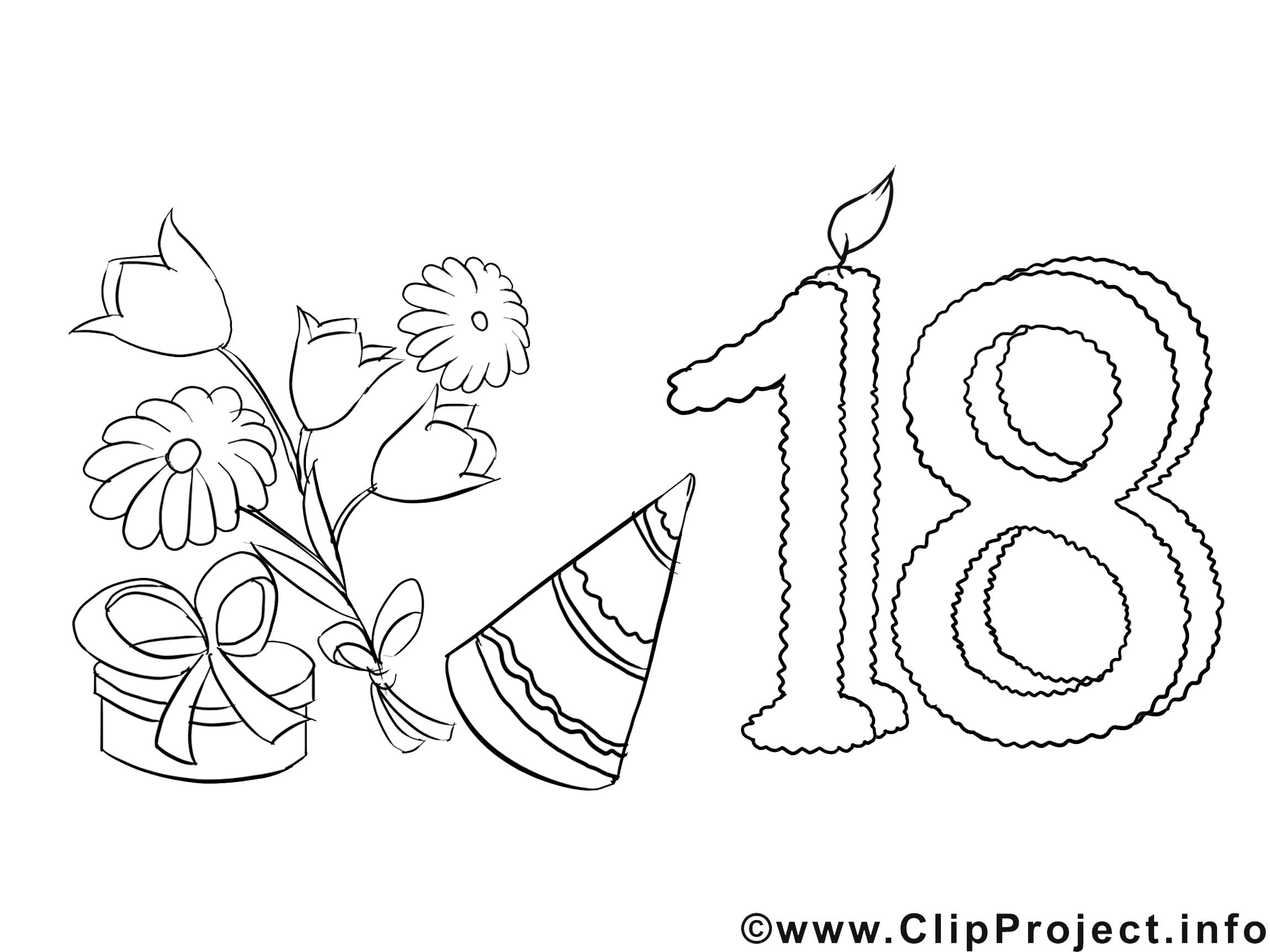 Cliparts zum 18 geburtstag png library stock Einladung 18 Geburtstag Malvorlage kostenlos png library stock