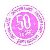 Cliparts zum 50 geburtstag. Clipartfest stamp happy birthday