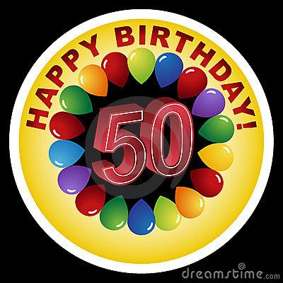 Cliparts zum 50 geburtstag. Happy th birthday banner