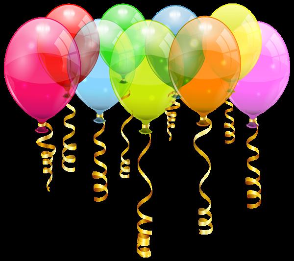 Cliparts zum 50 geburtstag. Colorful balloon bunch png