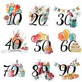 Cliparts zum 60 geburtstag graphic freeuse 60 Geburtstag-Clip-Art, Vektor 60 Geburtstag - 399 Grafiken ... graphic freeuse