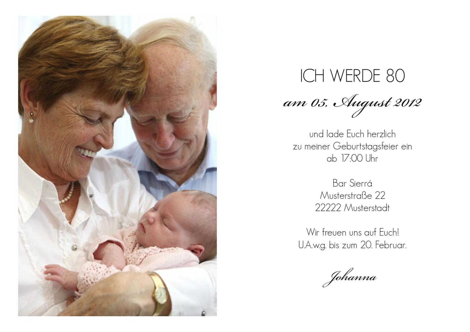 Cliparts zum 80 geburtstag. Einladung clipartfest geburtstageinladung