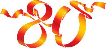Cliparts zum 80 geburtstag. Clipartfest red number