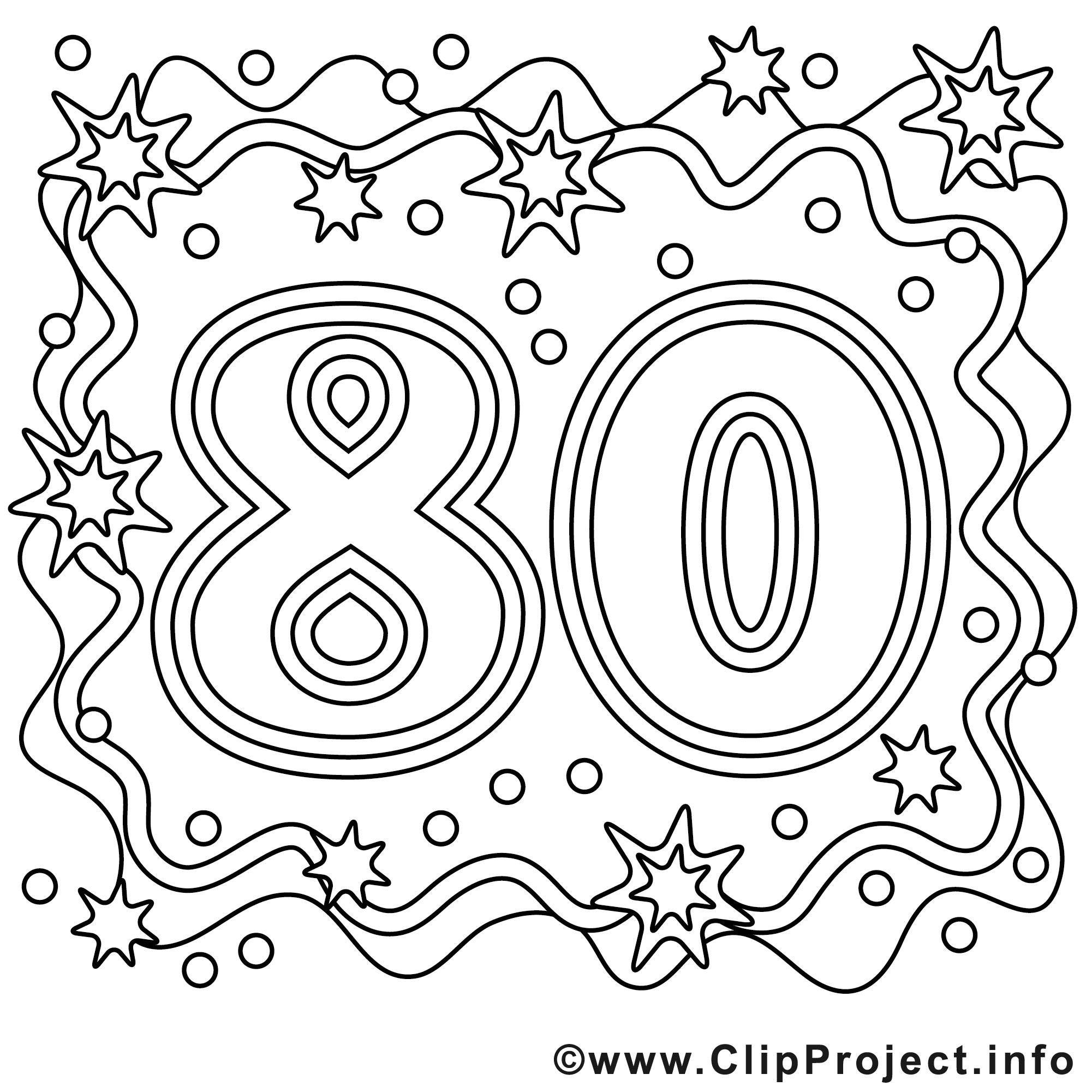 Cliparts zum 80 geburtstag. Clipartfox malvorlage