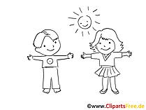 Kindergarten bilder cartoons grafiken. Cliparts zum ausmalen