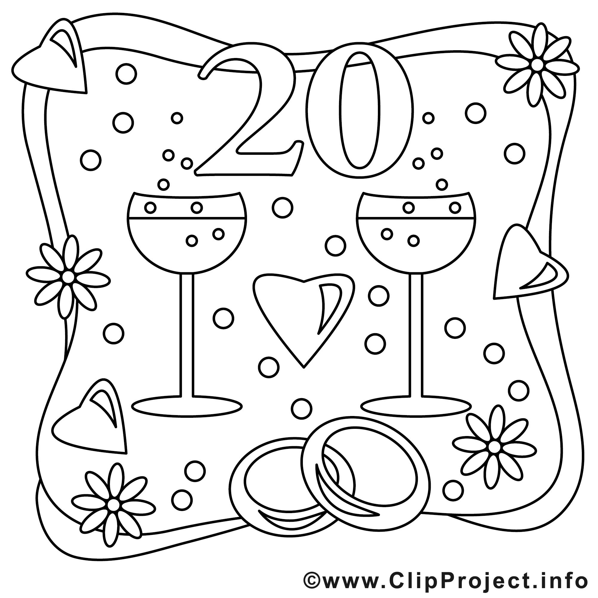 Wedding party clip art. Cliparts zum ausmalen