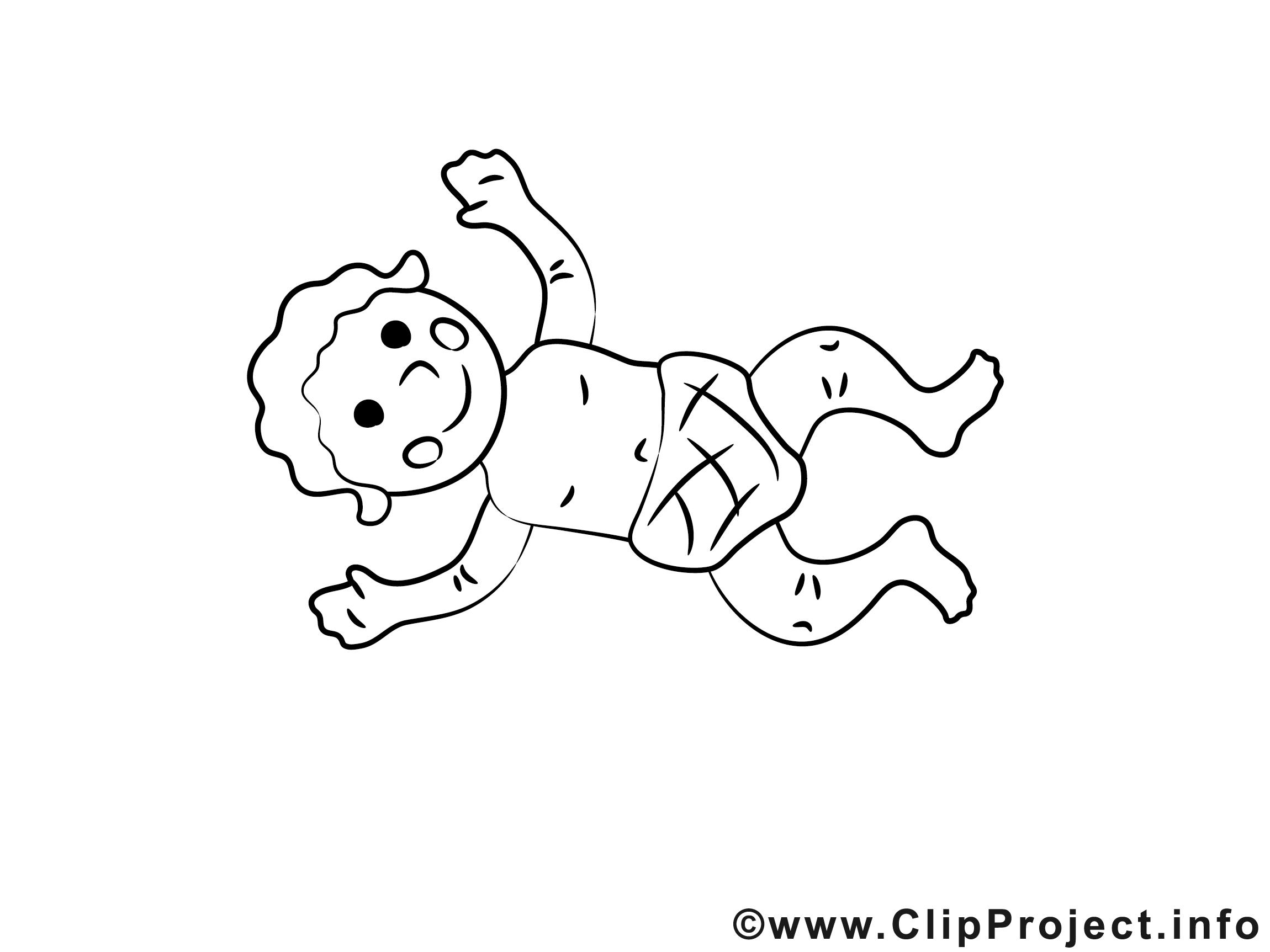 Baby mit windel clipart. Cliparts zum ausmalen