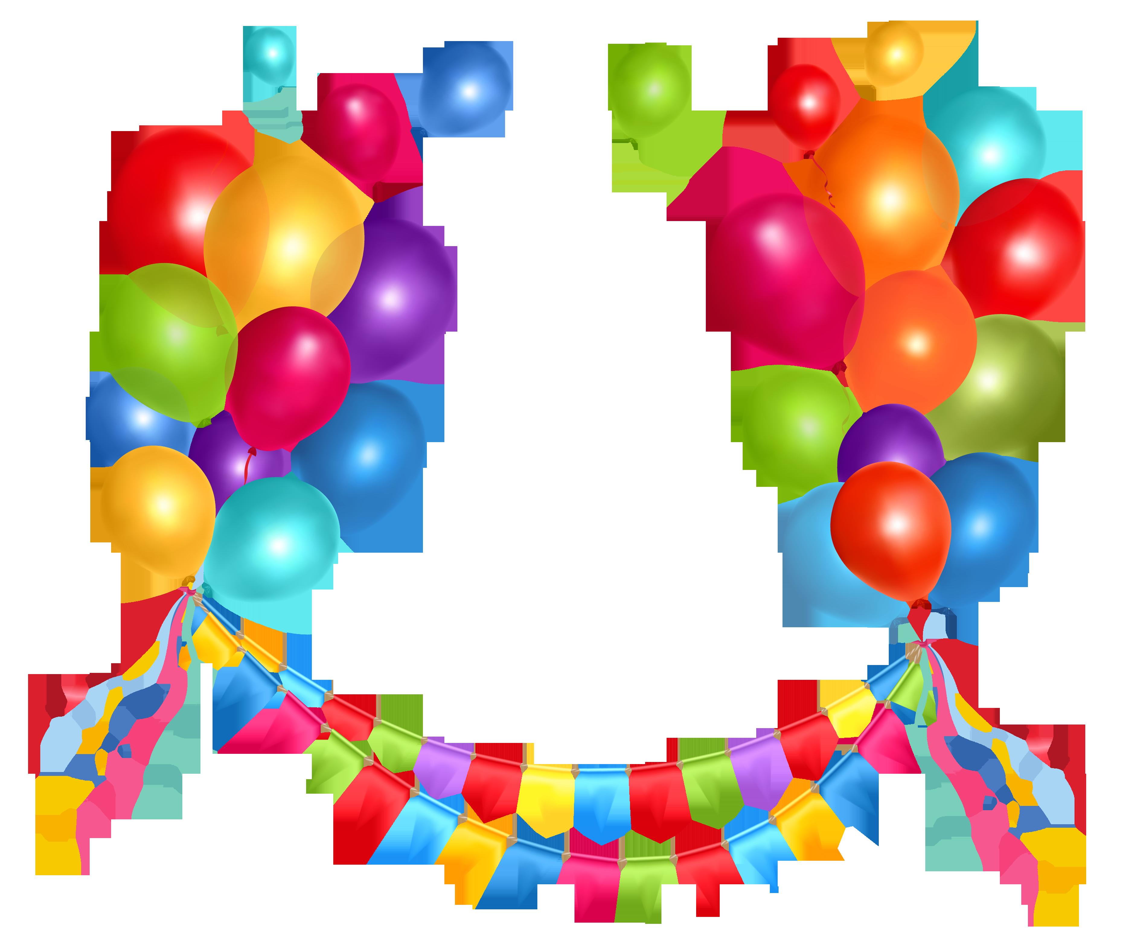 Cliparts zum geburtstag kostenlos graphic transparent download Transparent Party Streamer and Balloons PNG Clipart Picture ... graphic transparent download