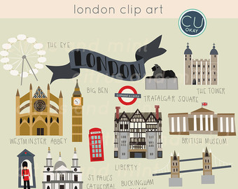 London clip art etsy. Cliparts zum thema essen und trinken