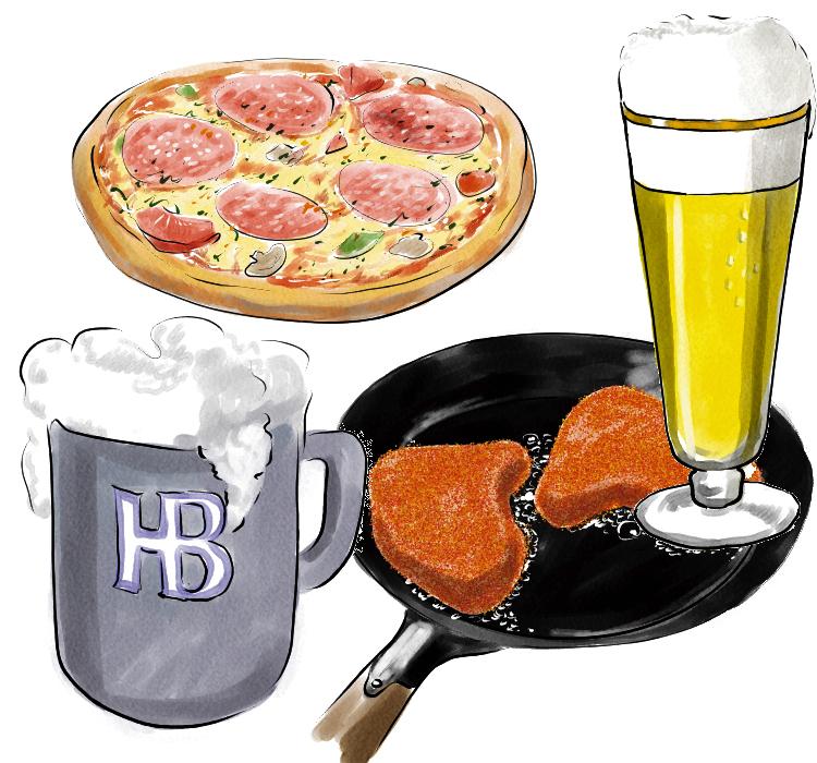 Cliparts zum thema essen und trinken