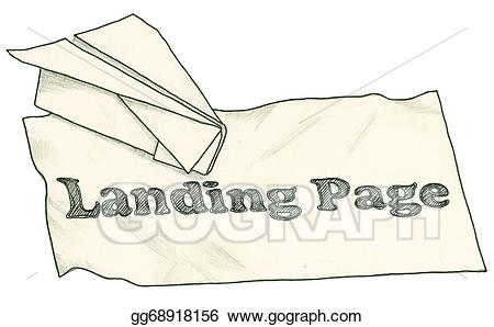 Clipping path clipart picture freeuse download Drawing - Landing page with clipping path. Clipart Drawing ... picture freeuse download