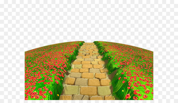 Clipping path clipart banner black and white download Clipping path Clip art - Stone Path with Flowers Ground PNG Clipart ... banner black and white download