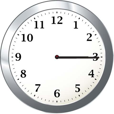 Clock- 3 15 clipart svg transparent stock Math Clip Art--Clock Showing 3:15   Media4Math svg transparent stock