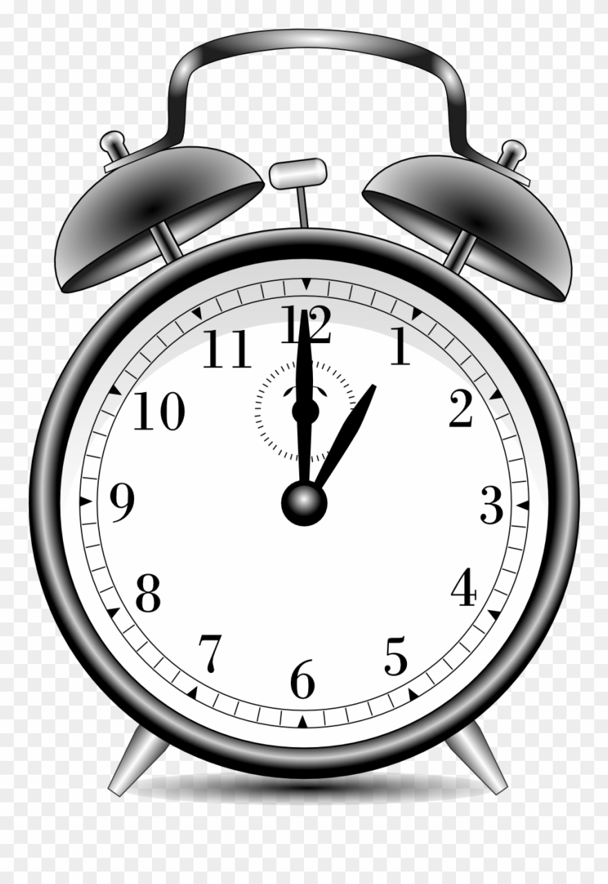 Clock black and white clipart svg freeuse stock Alarm Clock Alarmclock Black White Line Art 999px 299 - Black And ... svg freeuse stock