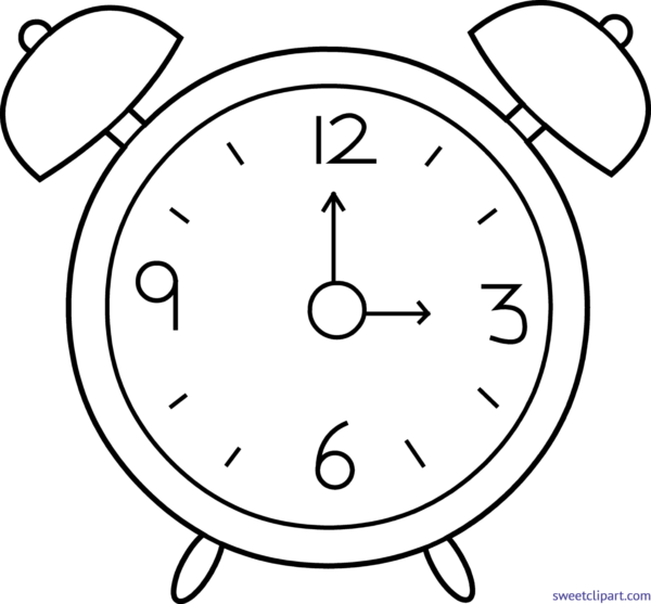Clock clipart black and white svg transparent library Clock clipart black and white 4 » Clipart Station svg transparent library
