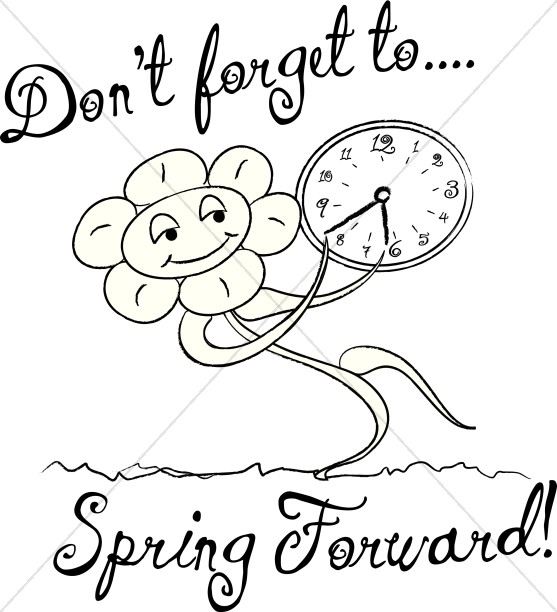 Clock clipart black and white going forward clip art royalty free Spring Forward Clipart Group with 19+ items clip art royalty free