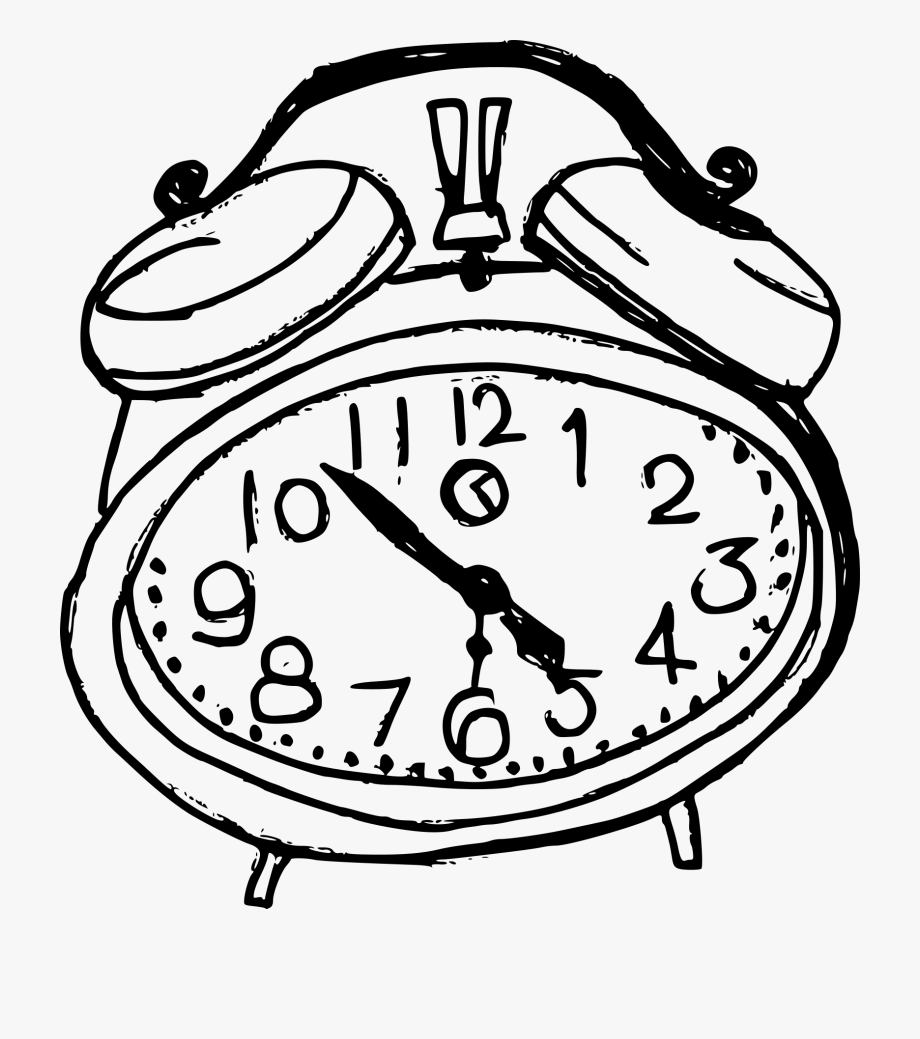 Clock clipart black and white going forward banner royalty free library Drawing Oval Clock - Alarm Clock Drawing On Transparent Background ... banner royalty free library