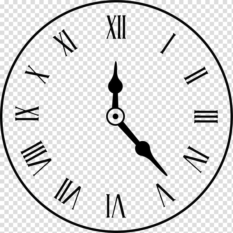 Clock clipart black and white numerals clipart black and white download Analog clock illustration, Clock face Alarm clock Roman numerals ... clipart black and white download