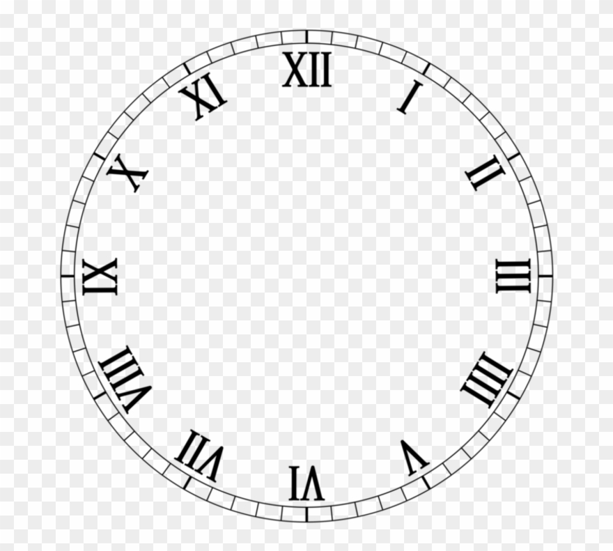 Clock clipart black and white numerals royalty free library Clock Roman Numerals Number - Relogio Em Algarismo Romano Clipart ... royalty free library