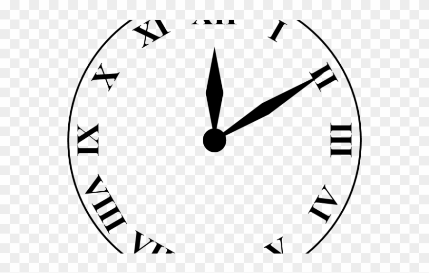 Clock clipart black and white numerals free library Clipart Black And White Stock Free On Dumielauxepices - Roman ... free library