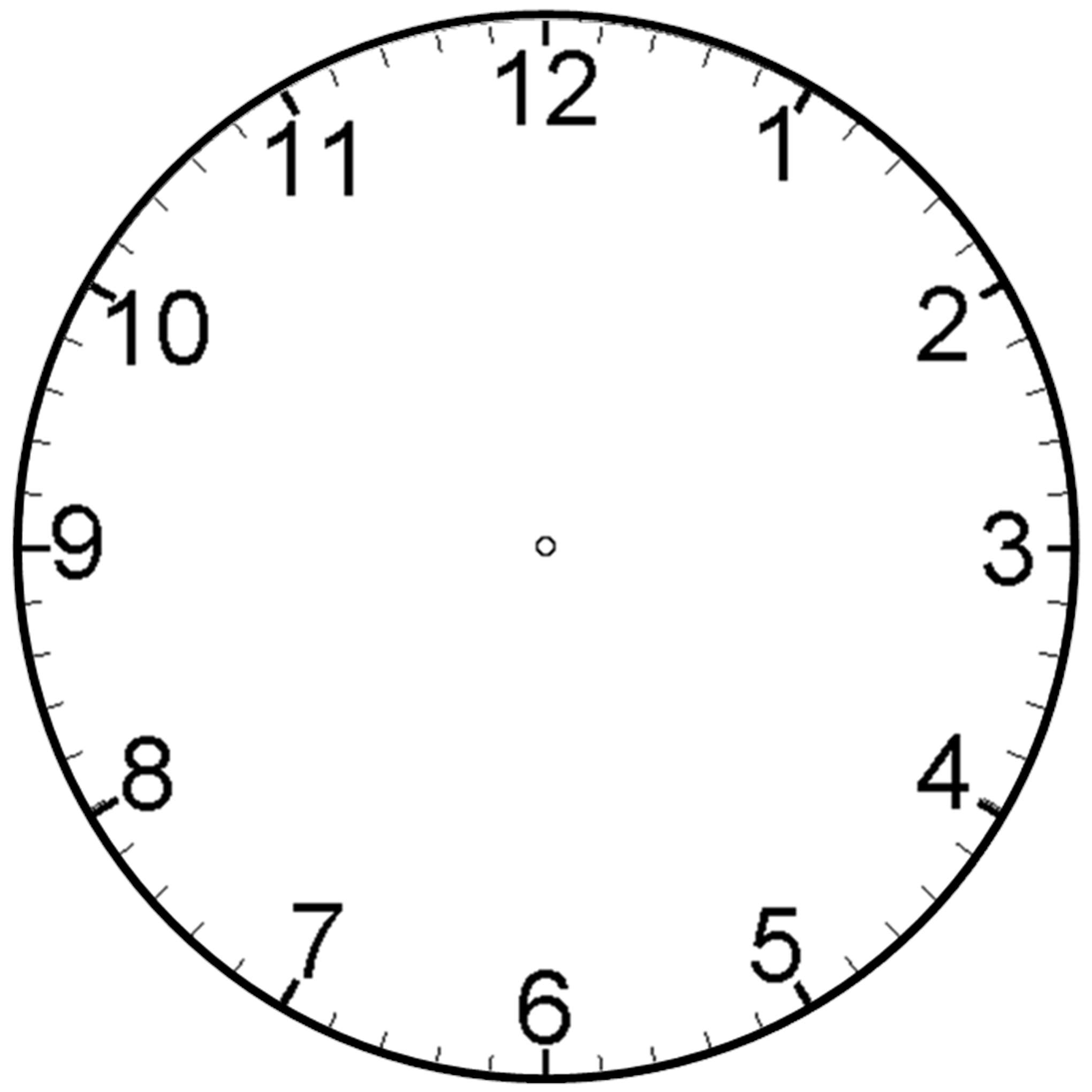 Clock clipart with no hands. Cartoon black and white