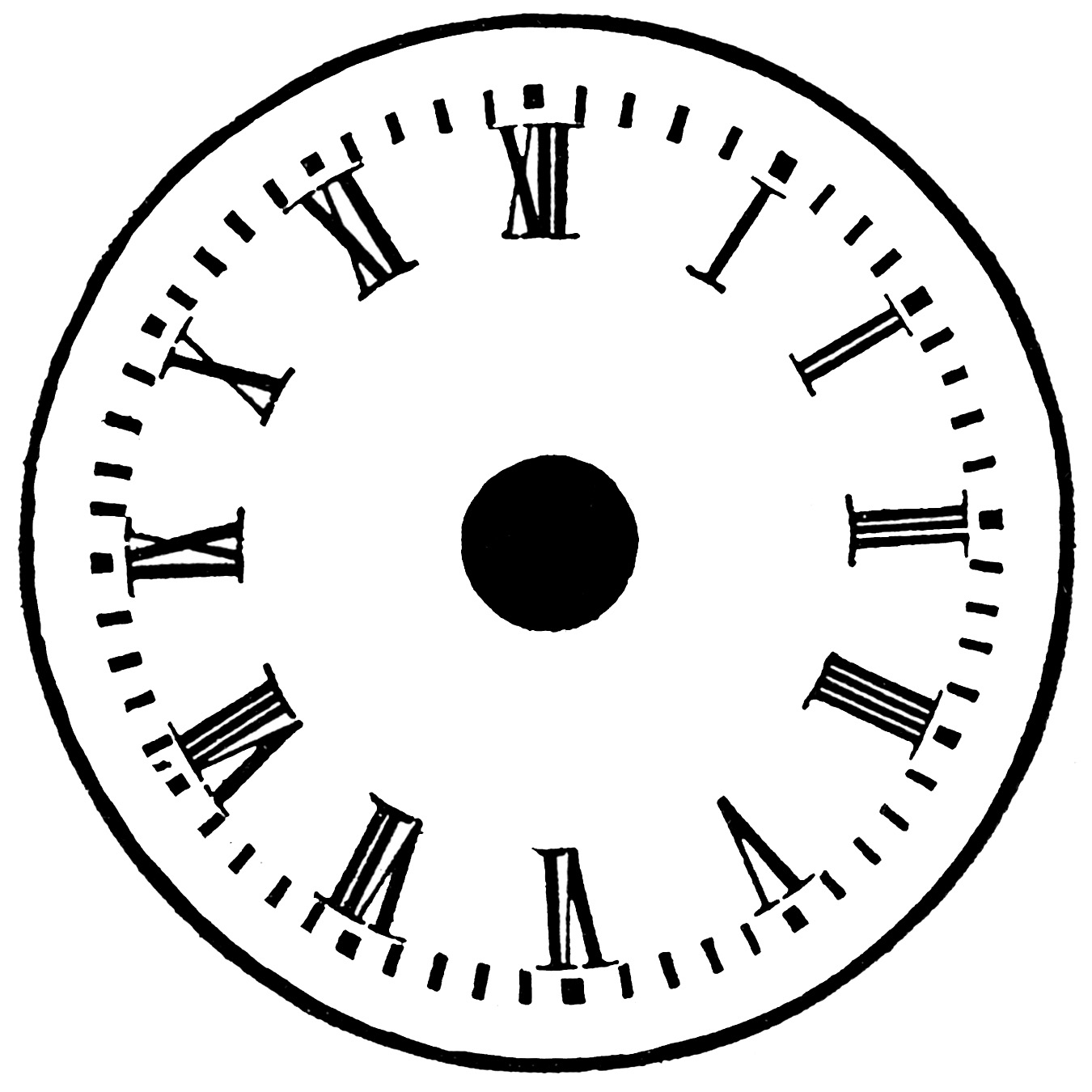 Clock clipart with no hands. Without free download clip
