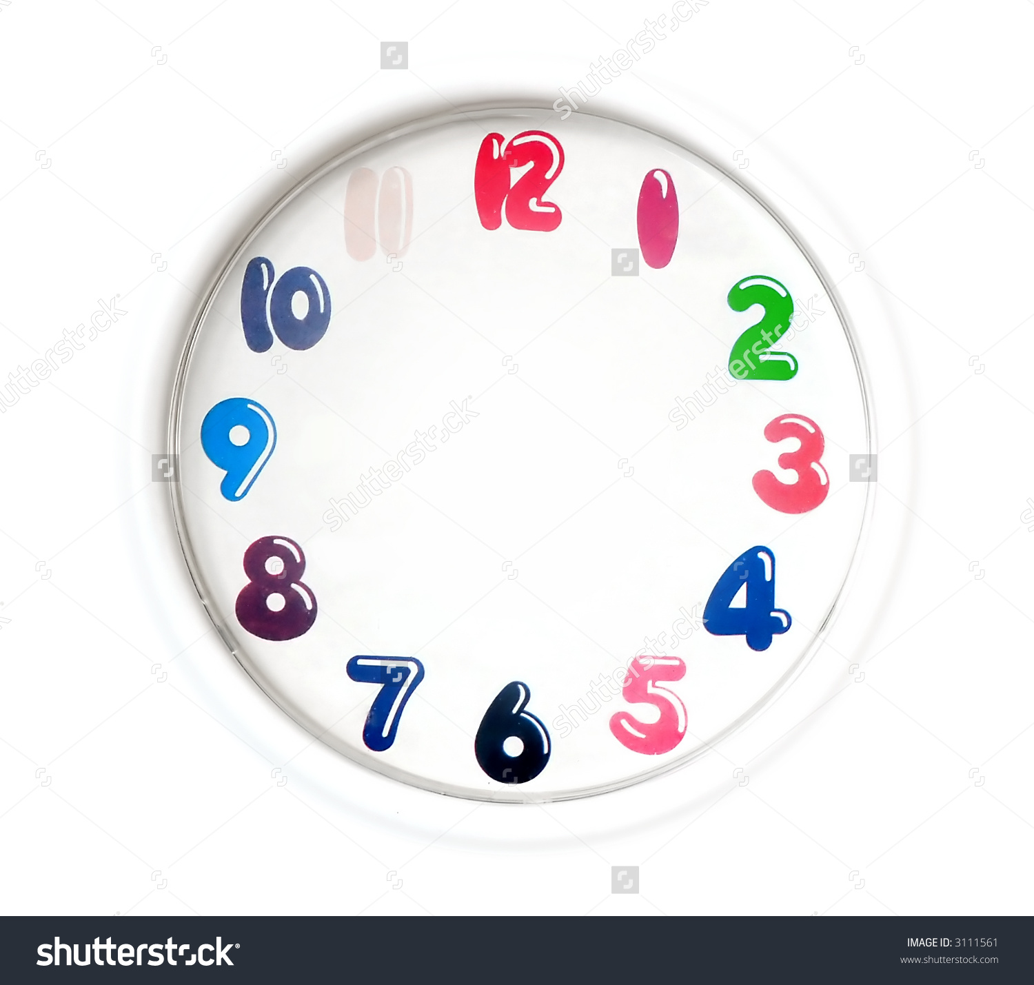 Clock clipart with no hands. Colorful clipartfox save to