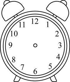Images black and white. Clock clipart with no hands