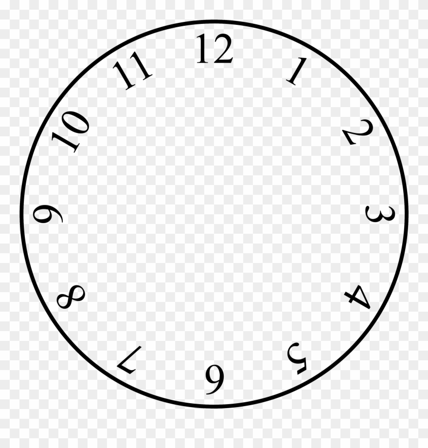 Clock face template clipart png freeuse stock Free Clock Face Template - Clock With No Hands Clipart (#104075 ... png freeuse stock