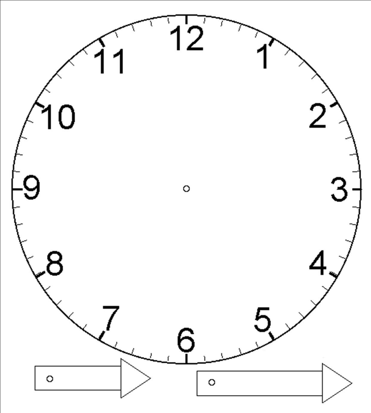Clock hands only no clock face 3 oclock clipart picture transparent download Template for clock with moveable hour and minute hand... (laminate ... picture transparent download