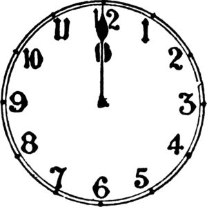 Clock midnight clipart svg black and white library Midnight Cliparts - Cliparts Zone svg black and white library