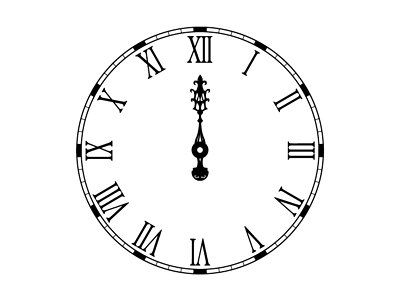 Clock midnight clipart clipart library stock Clock Face Midnight Gothic clock face with | Painted Shoes ... clipart library stock