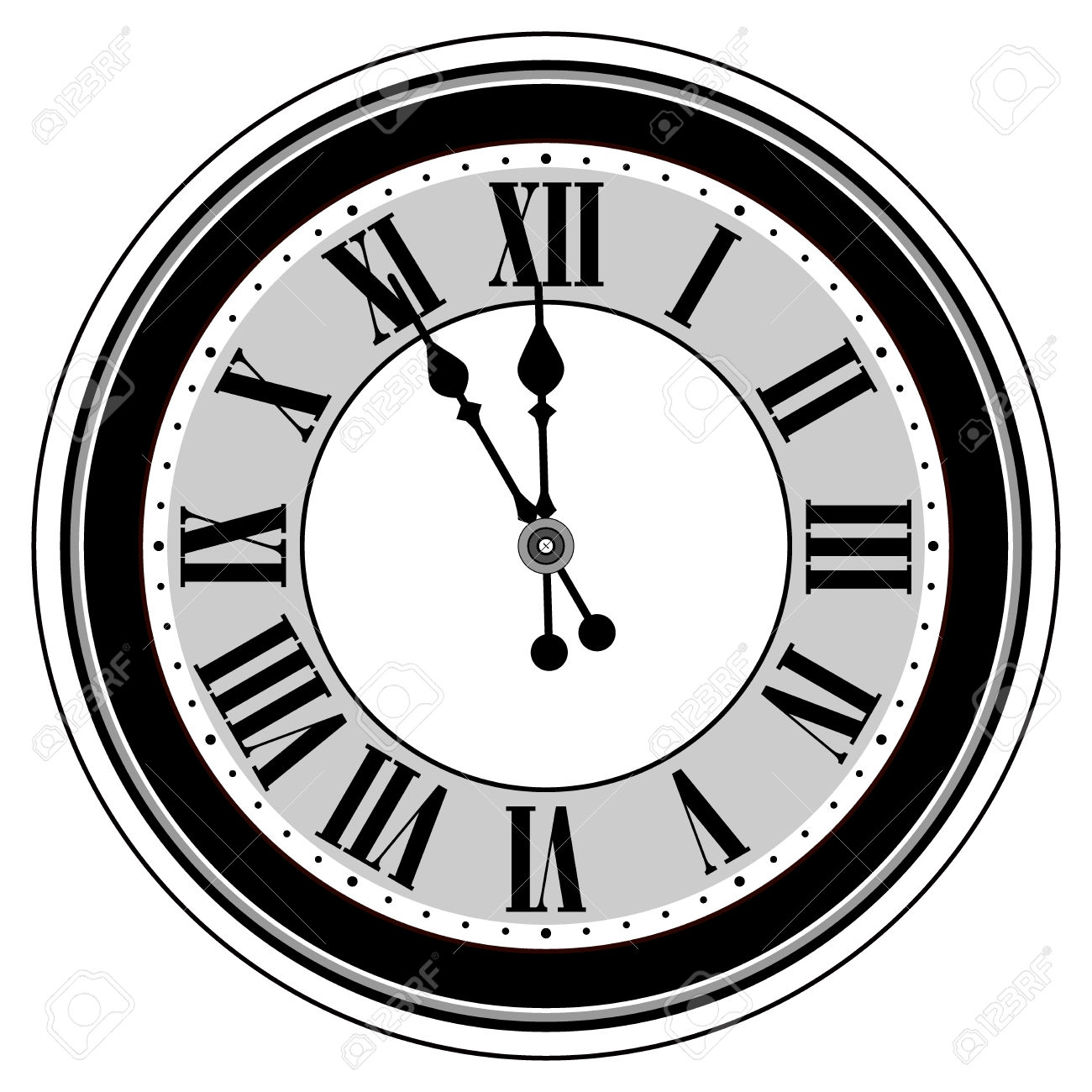 Clock midnight clipart svg transparent library Clock Clipart Black And White | Free download best Clock Clipart ... svg transparent library