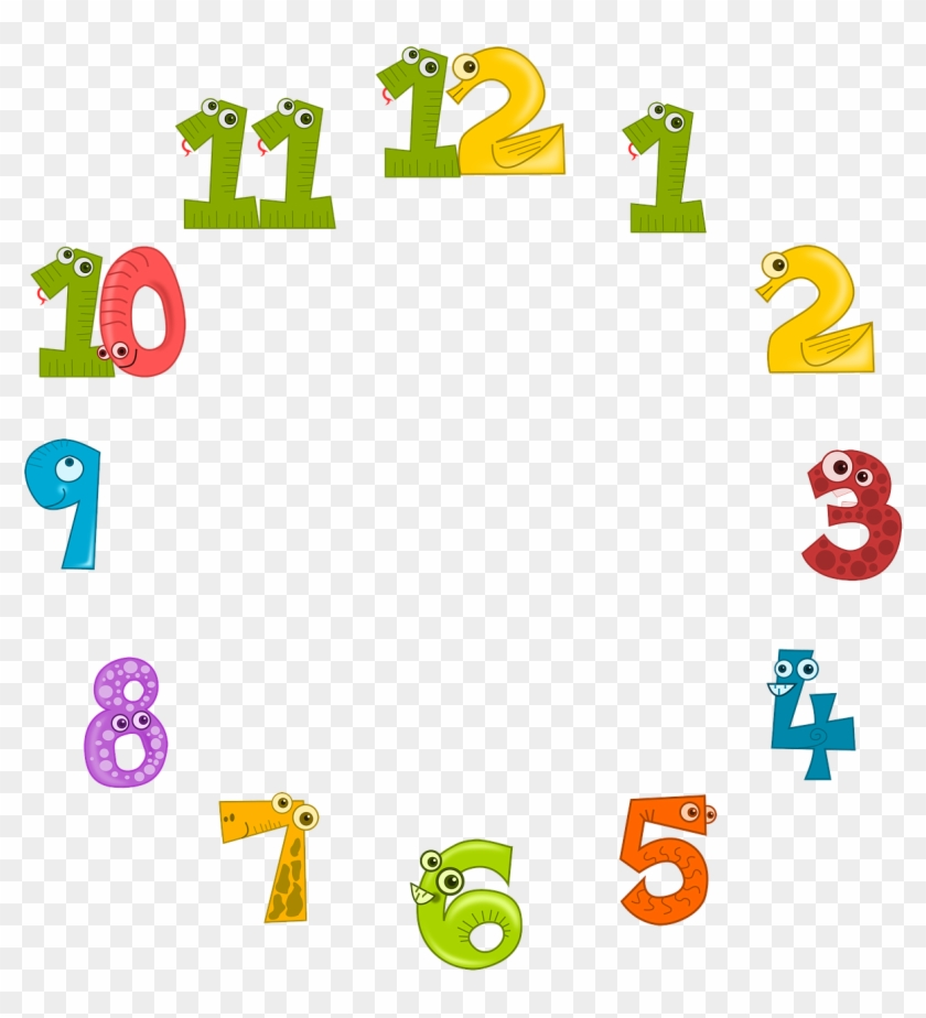 Clock numbers clipart banner royalty free stock Clock Face Clock Dial - Colorful Numbers For Clock, HD Png Download ... banner royalty free stock
