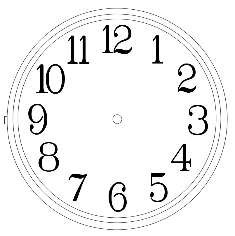 Clock numbers clipart vector freeuse Free Clock Images Free, Download Free Clip Art, Free Clip Art on ... vector freeuse