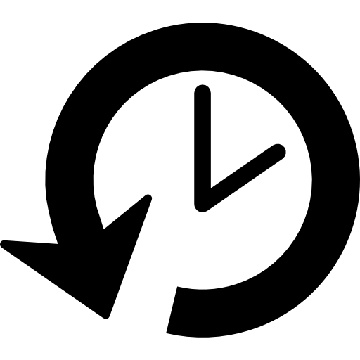Clock with arrow clipart. Back circular free arrows