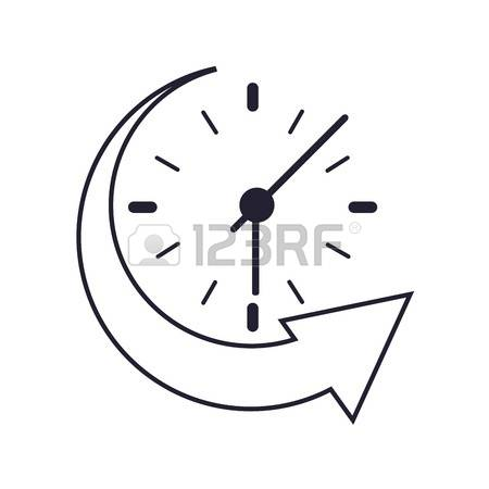 Clock with arrow clipart svg black and white 605 Fall Back Clock Cliparts, Stock Vector And Royalty Free Fall ... svg black and white