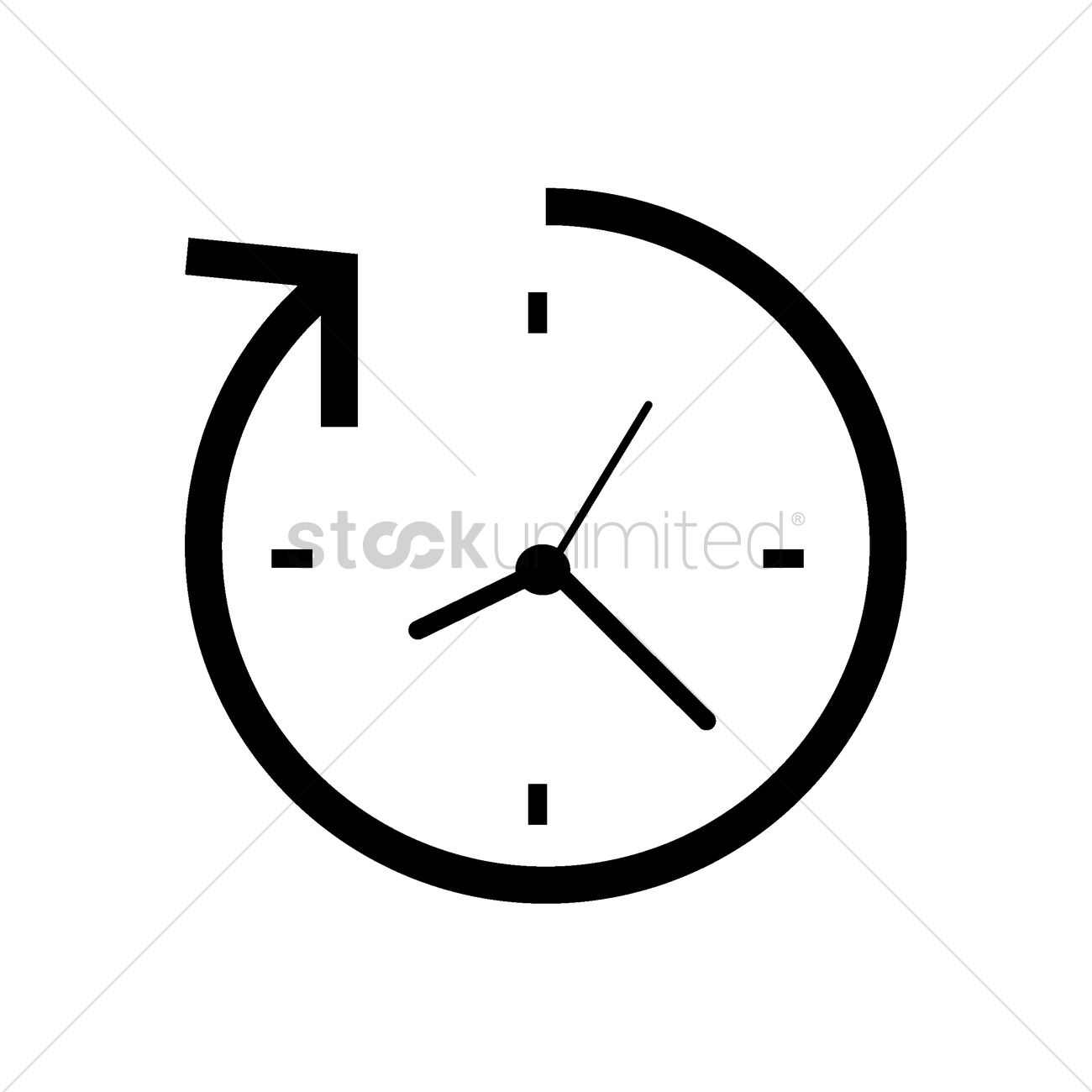 Vector image stockunlimited graphic. Clock with arrow clipart